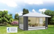 Herzog Pavillon Deluxe Größe 02 mit seitlichem Dachüberstand