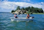 Terhi 385 Ruderboot / Angelboot motorisierbar, weiss/grün