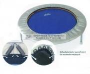 Mini-Trampolin Med, belastbar bis 100 kg, medizinisches Trampolin, weiche Spezial-Federn - Schraubbeine - blau