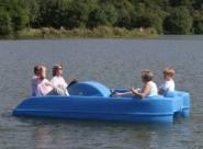 Tretboot Pioner Trio , Tretboote für den Verleih geeignet, rot