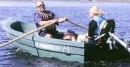 Pioner 12 - ideales Angelboot - Ruderboot / Motorboot, grün