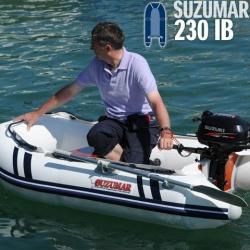 Suzumar 230 KIB Schlauchboot mit Luftboden incl. Suzuki DF 2.5 S 4-takt Aussenborder mit Schaltung