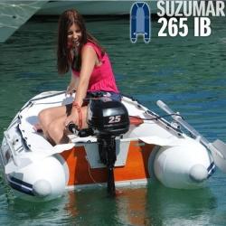 Suzumar 265 KIB Schlauchboot mit Suzuki DF 4 AS 4-takt Aussenborder