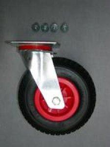 Bugrad luftbereift 220 mm lenkbar mit Schrauben für Slipwagen
