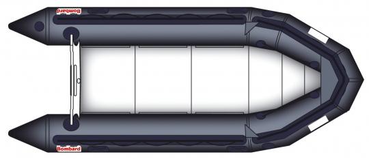 Bombard Commando C4 schwarz Packversion (Vollausstattung) Schlauchboot mit Aluboden + Holzkiel