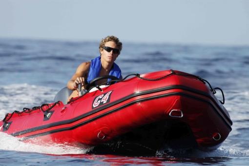 Bombard Commando C4 rot, Schlauchboot mit Aluboden + Holzkiel -Lieferung frei Haus