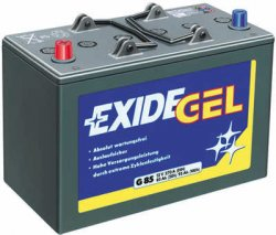EXIDE-Gel-Batterie G 80