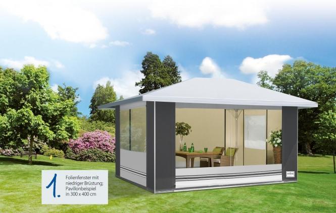 Herzog Pavillon Deluxe Größe 03 mit seitlichem Dachüberstand mit Zusatzgestänge